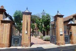 Entrada al recinte del Museu de l'Estampació.