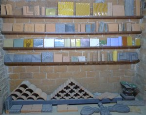 Rajoles dissenyades per Rafael Masó a Can Marcó.