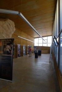 Espai d'exposicions temporals al Centre d'Interpretació.
