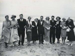 Participants concurs Miss Europa de visita a Sitges, 1933. AFB. Pérez de Rozas.