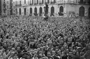 Via Laietana. Placa d´homenatge a Durruti, 1937. AFB. Pérez de Rozas.