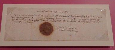 Segell del consolat dels catalans a Gènova. 1403. Arxiu Corona d'Aragó.
