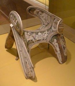 Sella de muntar cerimonial. Segle XV. Museu Nazionale del Bargello.