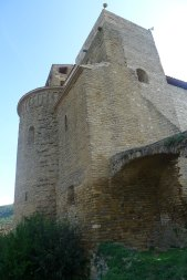 Capçaledra de Sant Pere des d'un lateral.