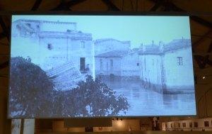 Imatge de carrers inundats en un dels audiovisuals
