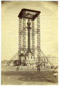 Autor desconegut - Construcció del monument a Colom, c. 1888. Arxiu Fotogràfic de Barcelona.