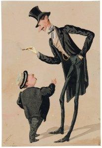 A la caricatura hi surten en mateix Josep Parera i algú anomenat Mendigacha de qui se'n desaoneixen més dades.
