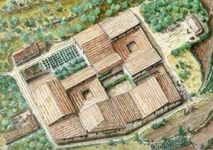 Restitució d'una illa de cases del vicus. Arxiu Camp de les Lloses.